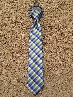 BOY/'S CHAPS PRE-TIED CLIP ON TIE NEW WITH TAG BLUES RED WHITE