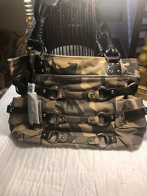 B Michalsky New Kimberly Style Handbag Camouflage With Leather
