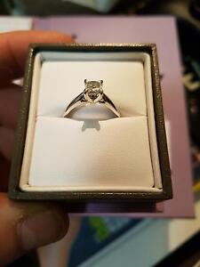 Never Worn .70ct princess cut solitaire in 4 claw 14ct white gold Geelong Geelong City Preview