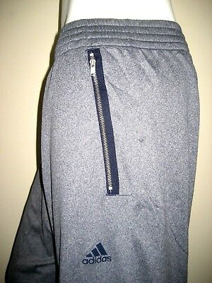 Adidas Mens Warm Up Basketball Track Athletic Exercise Pants Blue Navy Grey New