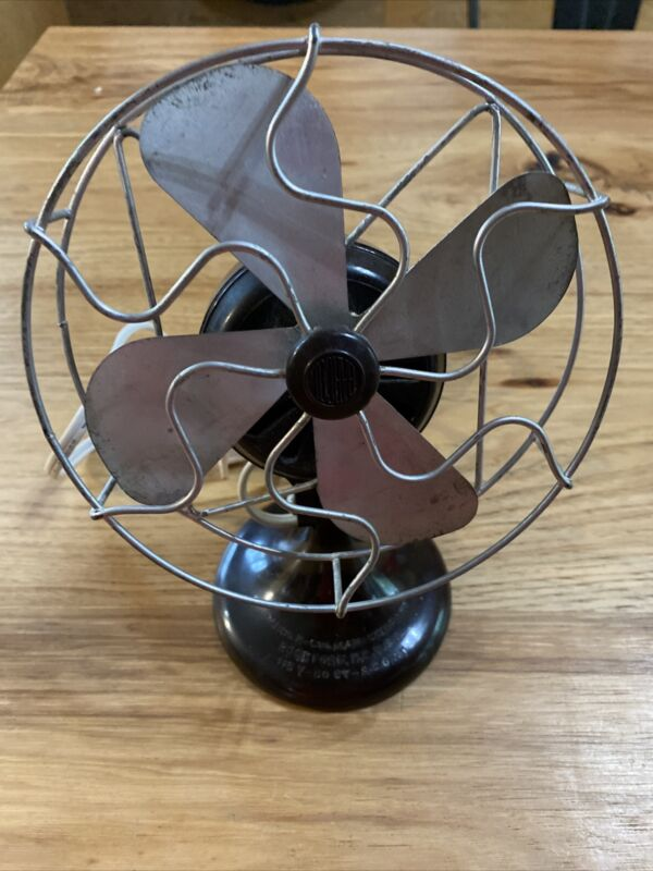 """Barber Colman fan one speed 6"""" Four blade working and rewired"""
