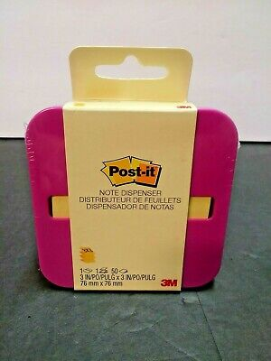 3m Post-it Pop-up Note Dispenser Pinkfuchsia Includes 50 3x3 Post-it Notes