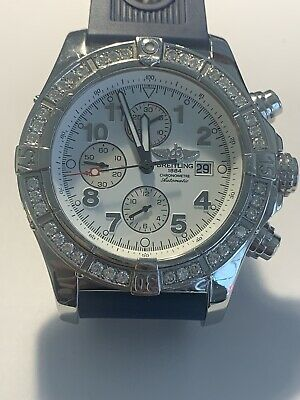 Breitling Super Avenger Stainless Steel Automatic Diamonds