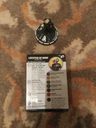 Star Trek Next Generation Heroclix 030 Locutus of Borg Super Rare with Card