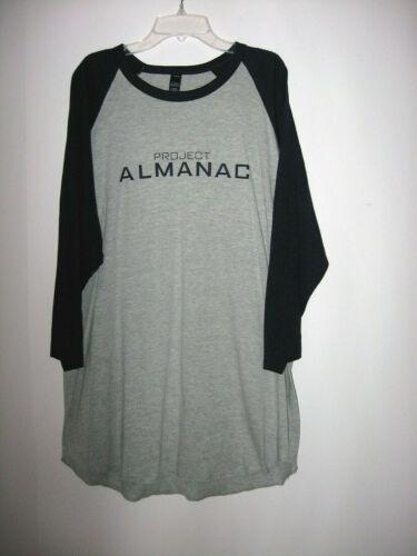"""PROJECT ALMANAC"" Movie Promotional Long Sleeve Shirt - Size XL - Cotton Blend"