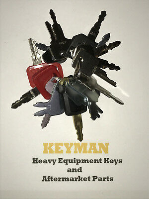 16 Keys Heavy Equipment Construction Ignition Key Set Case Cat Jd Komatsu