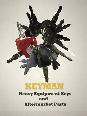 16 Keys Heavy Equipment Construction Ignition Key Set