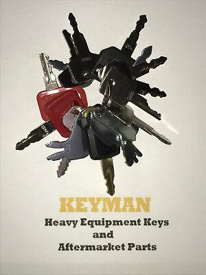 16 Keys Heavy Equipment Construction Ignition Key Set Case Cat Jd Komatsu