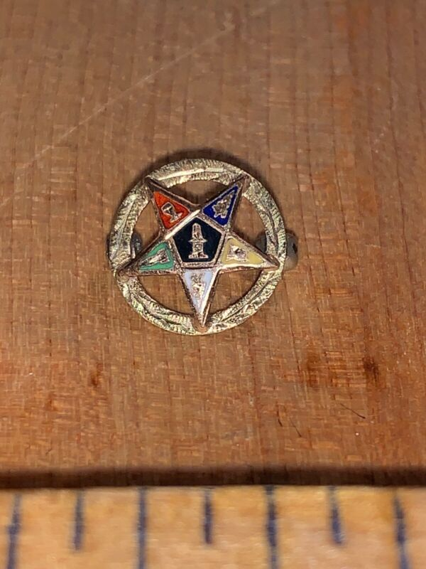 Antique Vintage Order of the Eastern Star Pin Pinback Masonic Masons