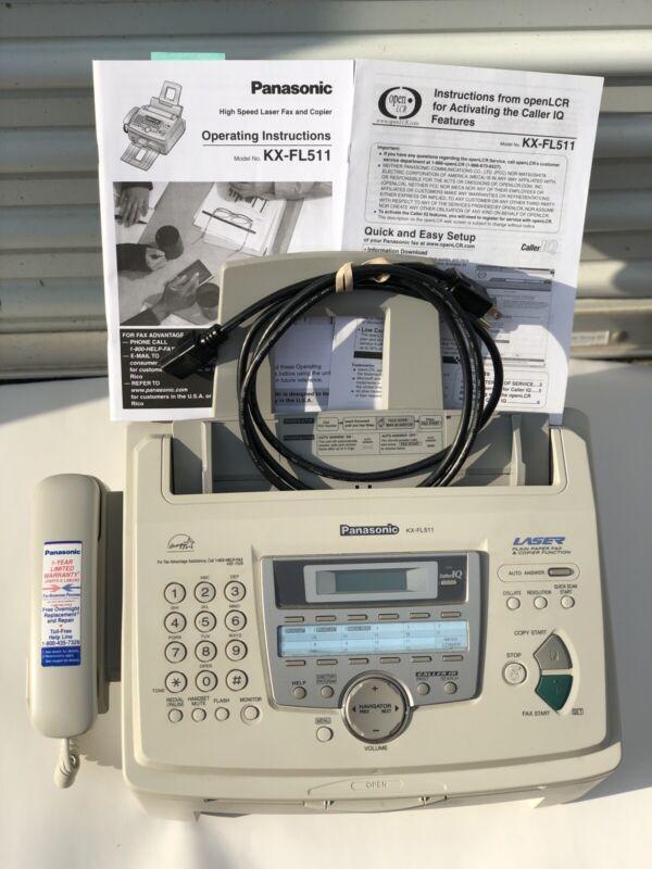 Panasonic Kx-FL511 Laser Fax Copier Telephone Machine High Speed #AF