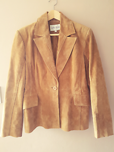 Size 12 Women's suede leather jacket Macquarie Fields Campbelltown Area Preview