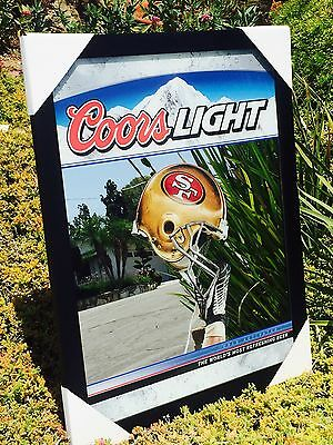 """New"" Coors Light San Francisco 49ers  Beer Bar Pub Football NFL NFC Mirror"