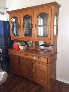 Solid Oak China Cabinet $300 OBO