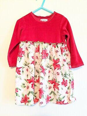 Baby Lulu 3t Pink Velour Velvet Dress