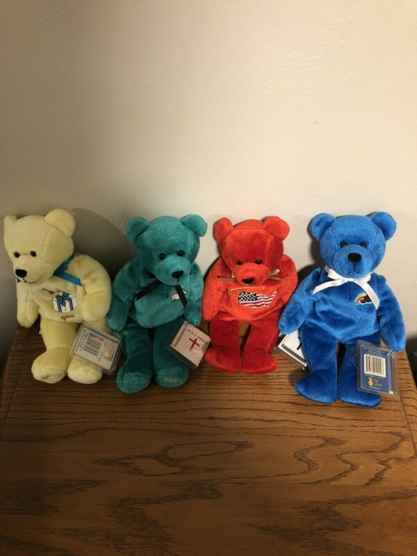 Holy Bears Religious Beanie Lot - 4 Appreciation/Promise/Allegiance/Commencement