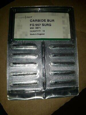 Super Dent Carbide Bur Fg 557 Surg 10ct 950-5871
