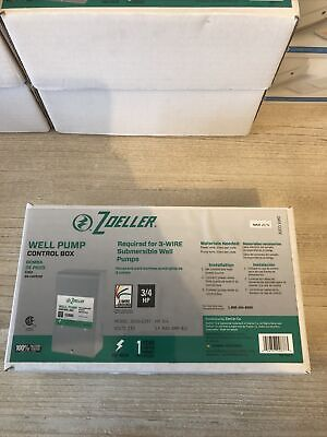 Zoeller Well Pump Control Box For 3-wire Submersible Well Pumps 1010-2337