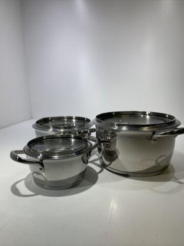 Tramontina 18/10 Stainless Steel 6 PC Sauce Pot Set TRI-PLY