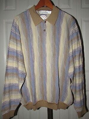 NEW St. Croix Knits Cotton Tencel Textured Polo Sweater XXL 2XL NWT Texture Knit Polo