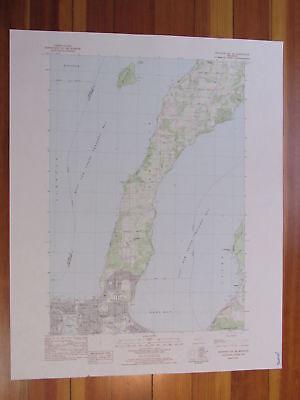Traverse City SE Michigan 1984 Original Vintage USGS Topo Map