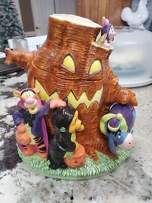 "Winnie the Pooh ""Pooh Family"" Halloween Cookie Jar by Disney"