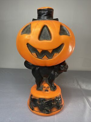 Empire Vintage Tabletop Pumpkin Black Cat Blowmold Skull Witches Black Orange