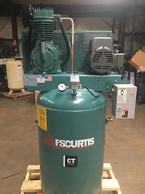 Fs Curtis Ct Series 80-gallon Air Compressor 5hp 2301 17cfm 175 Baldor Motor