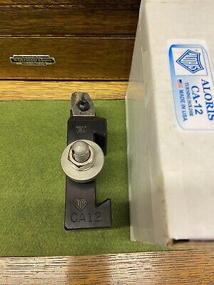 New Aloris Ca-12 Lathe Quick Tool Post Insert Holder 4 Carbide Triangle Inserts