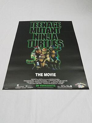 Teenage Mutant Ninja Turtles THE MOVIE Vintage Poster 1990 17x22 PIZZA HUT