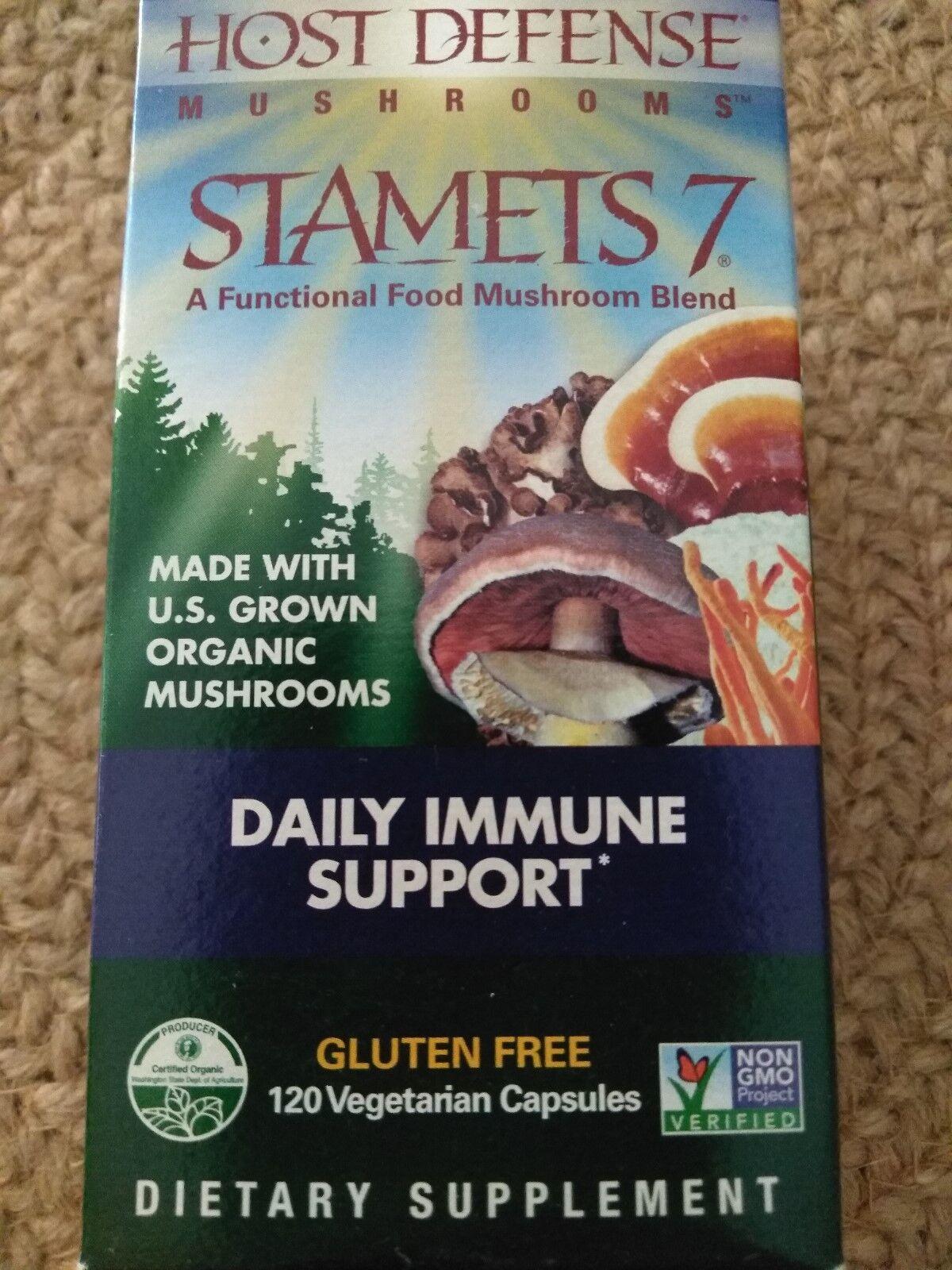Fungi Perfecti Host Defense Stamets 7 Daily Immune Support 120 Veggie Capsules