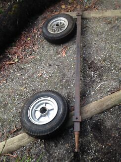 Trailer axle set