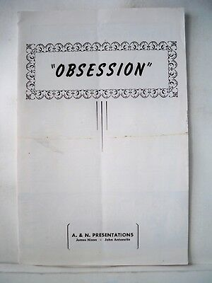 OBSESSION Playbill BASIL RATHBONE / EUGENIE LEONTOVICH Tryout KANSAS CITY 1946