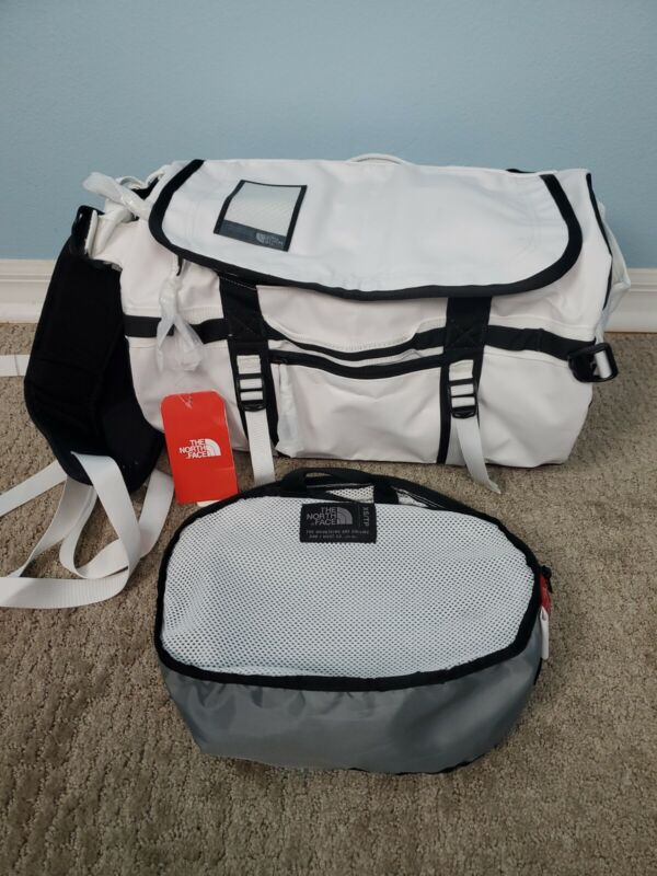The North Face Base Camp Duffel XS Duffle White Black 31L New Carry On Suitcase