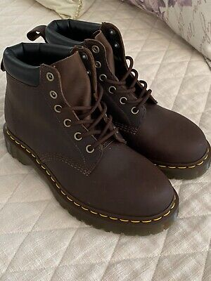Dr. Martens Womens 7 Mens 6 US 939 Ben Boot Brown Leather Lace Up Combat Boots