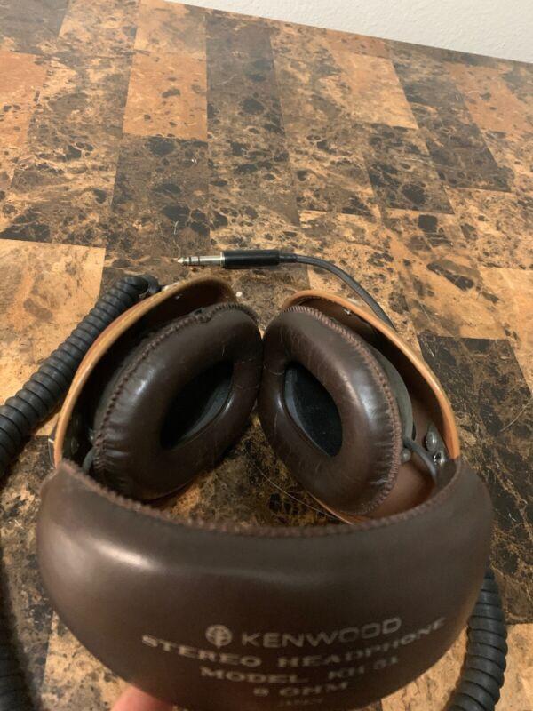 Vintage Kenwood KH-51 Stereo Headphones.