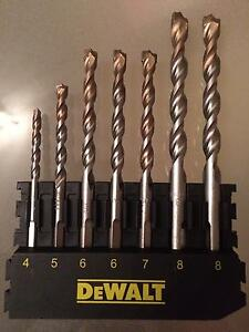 DeWalt Extreme 7 pcs Masonry Drill Bit Set: 4 5 6 6 7 8 8mm Straight Wiley Park Canterbury Area Preview