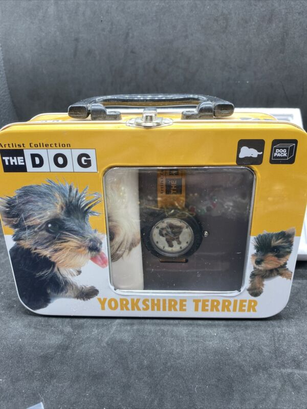 "Artist Collection ""The Dog"" Yorkshire Terrier Watch NIB"