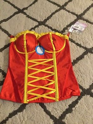 Rescue Iron Man Corset Marvel Superhero Halloween Adult Costume Accessory L