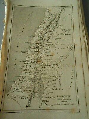 Gravure 1841 -Map Carte sous la domination Romaine Sous La Domination Romaine