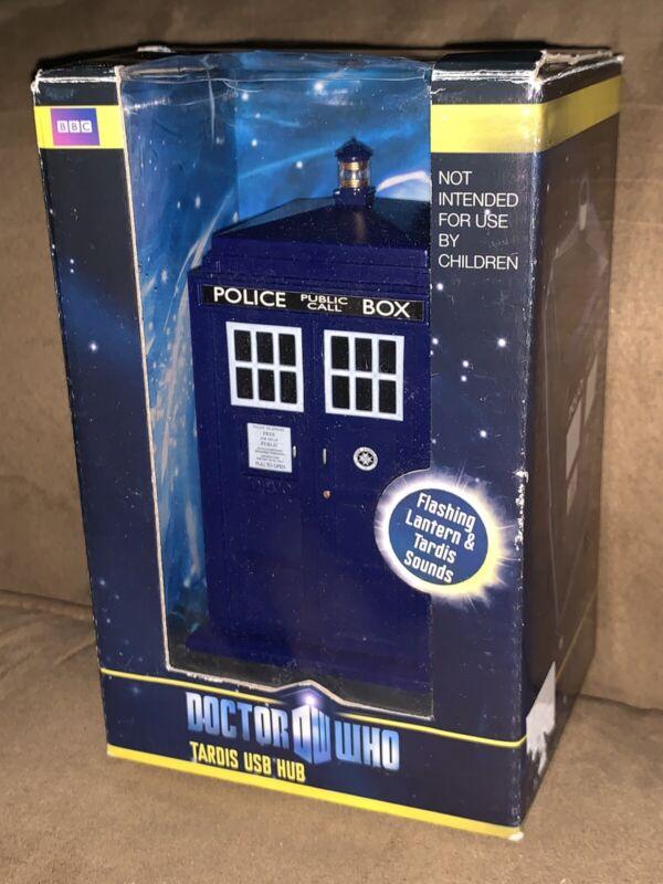 Doctor Who TARDIS USB Hub Flashing Lantern & Sounds New Old Stock Open Box