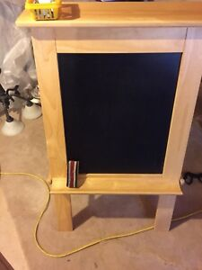Little Tikes wooden 2 sided easel