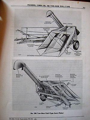 John Deere 200 Corn Picker Parts Catalog Manual Original