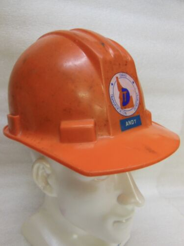 old IDAHO Transportation Department HELMET w/ adj. Headband - from the 1980
