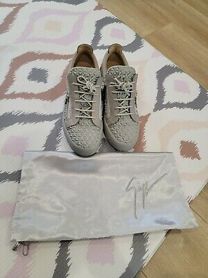 Giuseppe Zanotti Men's Sneakers Leather Size 43 Used with Dust Bag