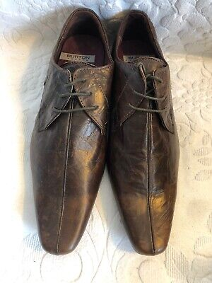 Brand New Pair of BURTONS  Brown Leather Shoes UK Size 9 EU 43 Brand New
