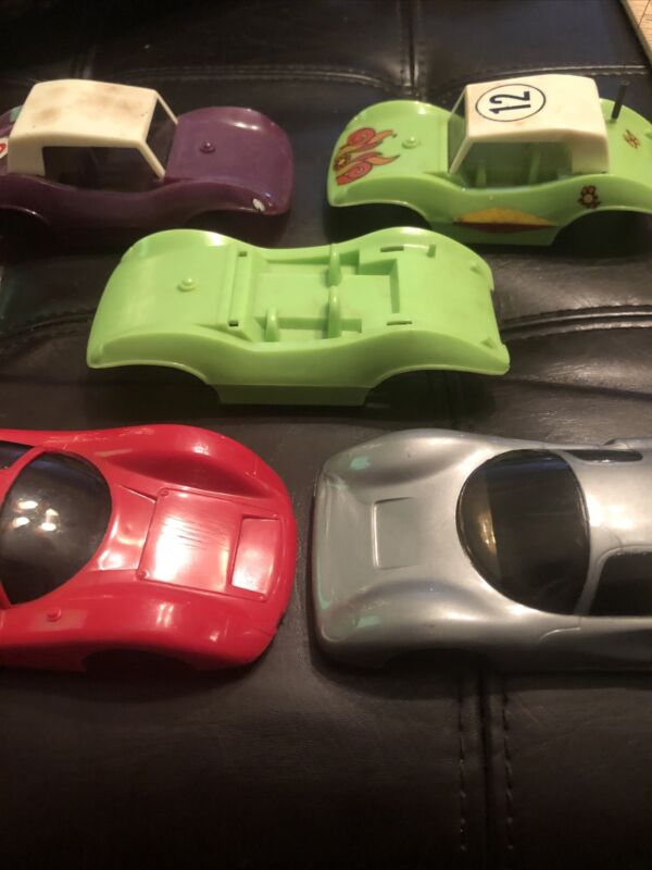 Vintage Lot 5 Eldon 1/32 Scale Ferrari P-3 Porsche Dune Buggy Slot Car Body Shel