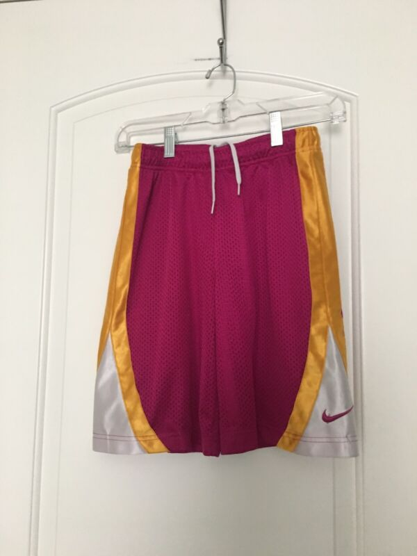 NIKE Big Kids Athletic Lined BasketBall Shorts Sz M MultiColor
