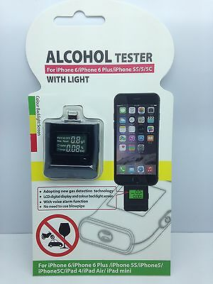 NEW ALCOHOL TESTER BREATHALYZER FOR PHONE 6 6 PLUS 5 5S 5C