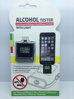 LOT OF 100 NEW ALCOHOL TESTER BREATHALYZER FOR PHONE 6 6 PLUS 5 5S 5C