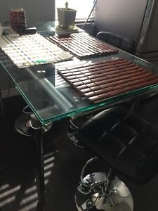 Glass desk or kitchen table